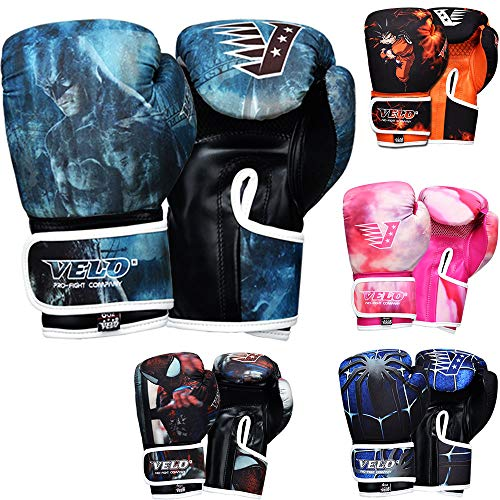VELO. Guantes de boxeo para niños, guantes para niños, 170 g, 4...