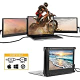 Dual Portable Monitor for Laptop, Triple Screen Extender for PC, 11.6' 1080P Extra Laptop Screens for 13'-16' Mac Windows Chrome Laptops with USB-C or HDMI