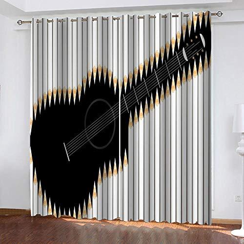 cortinas dormitorio matrimonio de guitarras