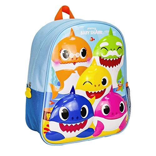 CERDÁ LIFE'S LITTLE MOMENTS - Baby Shark Rucksack Kinder | Baby Shark Schulrucksack für Kinder Offizieller Lizenz, mehrfarbig, einheitsgröße