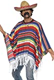 Poncho messicano multicolore con frange costume adulto