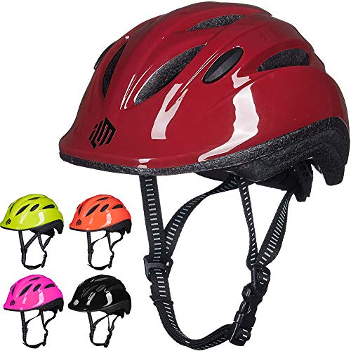 ILM Kids Youth Bike Helmet Toddler Bicycle Cycling Helmet with Adjustable Dial for Boys and Girls (Red, XX-Small/X-Small)