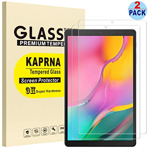 [2 Pack] KAPRNA Screen Protector for Samsung Galaxy Tab A 10.1 2019 SM-T510/T515, Tempered Glass Film for Samsung Galaxy Tab A 10.1 Inch (2019) Tablet (High Definition)