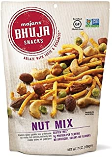 Majans Bhuja Gluten Free Snack Mix, Non-GMO | No Preservatives | Vegetarian Friendly | No Artificial Colors or Flavors, Nut Mix, 7 Ounce (Pack of 6)
