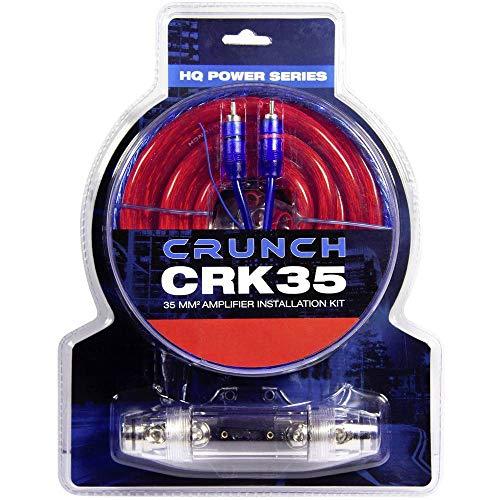 Crunch CRK35 | 35mm² Verstärker-Anschluss-Set - Kabelset 5m mit Cinchkabel