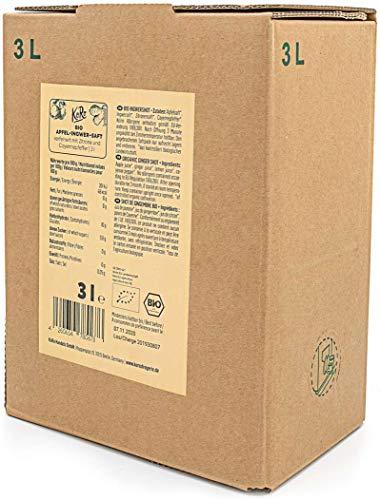 KoRo - Bio Apfel-Ingwer-Shot 3 l - Natürlich scharfer Saft in Vorteilspackung aus biologischem Anbau