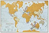 Maps International Scratch The World Travel Edition Map Print –– 11.69 x 16.53 in