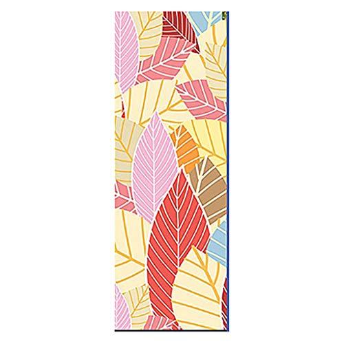 Sunnymi Esterilla de yoga estampada, toalla de mano, antideslizante, absorbe el sudor, yoga para deporte y fitness, yoga, estiramiento, pilates y entrenamiento de suelo, color G, tamaño 183X 26 cm