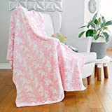 AVAFORT Velvet Plush Home Fleece Throw Blanket for Couch Sofa Bed, Warm Elegant Fuzzy Flannel Blanket for Kid Baby Adults or Pet, Lightweight Soft Cozy Warm Luxury Microfiber Blankets (Elephant Pink)