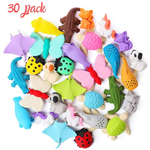 Mr. Pen Take Apart Animal Erasers, 30 Pack