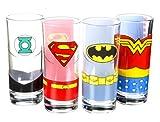 Justice League - Character Glass Tumbler Set