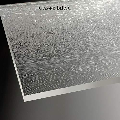 Glasdekor BELLA C für 1-scheibige Dusche