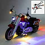 YLJJ Juego de Luces LED USB DIY Compatible con Lego 10269, Kit de Luces LED para Bloques de construcción (Creator Expert Harley-Davidson Fat Boy) Modelo Niños (Incluido el Modelo)