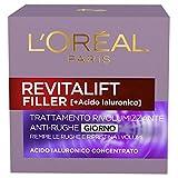 l'oréal paris trattamenti revitalift filler crema viso antirughe rivolumizzante giorno con acido ialuronico concentrato, 50 ml