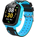 INIUPO Kids Smartwatch for Boys Girls Phone Game Smart Watch for kids Children Music Player Camera Alarm Clock Birthday Gift (Blue)