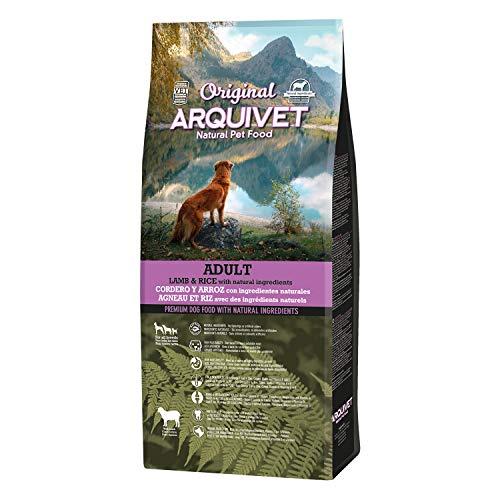 Arquivet Original Adult - Pienso para Perros Adultos Cordero y arroz 12 Kg - Comida para Perros - Alimento seco para Perros - Todas Las Razas - Ingredientes Naturales