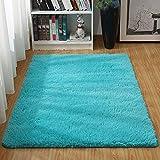 Alfombras Ultra Suaves para Interiores, Interiores y Suaves Alfombras de Sala de Estar aptas para niños Dormitorio Decoración para el hogar Alfombras de Dormitorio 60 * 120 cm (Azul)