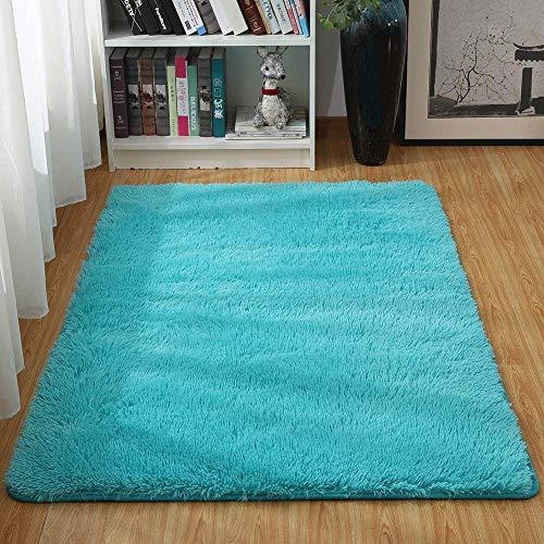 Txyk Tappeti di Zona Moderna Ultra Morbida Soffici tappeti Soggiorno Adatto per Bambini Camera da Letto Home Decor Nursery Tappeti 60 * 120 cm (Blu)
