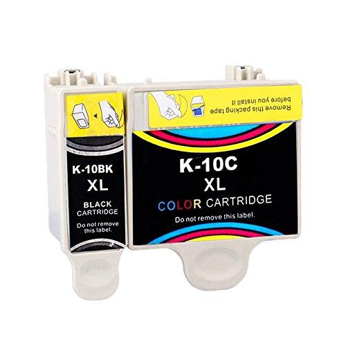 ESTON 2Pack HY 10XL Ink Replacement for Kodak10 XL 10B 10C Fit ESP 3 5 7 9 Hero 6.1 7.1 9.1
