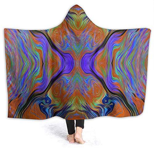 Niet van toepassing Lava LAMP Paars Oranje Verbrand Draagbare Hooded Deken Sherpa Gooi Deken Fleece Zachte Warme Winter Voor Sofa Lounge Bed Napping