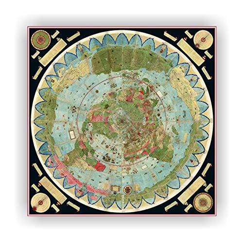 Urbano Monte Map 1544-1613. Mapa Pared Mundo manuscrito