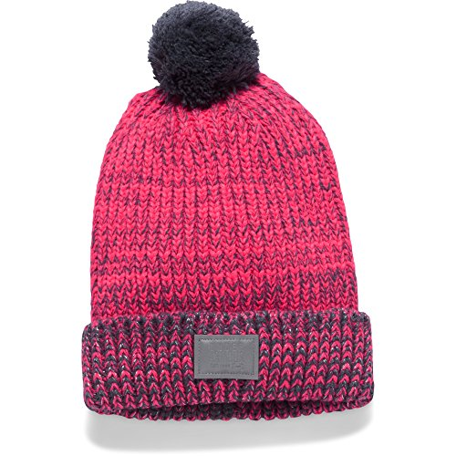 Under Armour Girls Shimmer Pom Beanie - Penta Pink, One Size