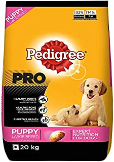 Pedigree PRO Expert Nutrition Large Breed Puppy (3-18 Months) Dry Dog Food 20kg Pack