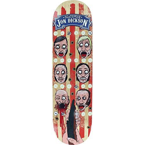 Deathwish Dickson Carny Skateboard-Brett / Deck, 21,6 cm (8,12 Zoll), inkl. 2,5 cm (1 Zoll) Hardware-Set