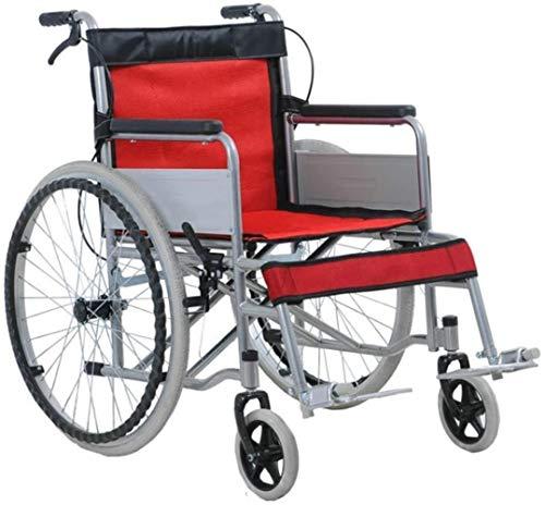 JYHQ Silla plegable portátil portátil anciano silla de ruedas, portátil discapacitado plegable portátil silla de ruedas silla de ruedas ultra ligero silla de ruedas