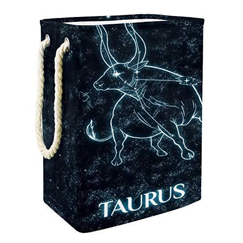 NOBRAND Panier à linge Taurus Panier à linge Panier de rangement Panier à linge Doublure intégrée avec supports amovibles Panier à linge pliable pour