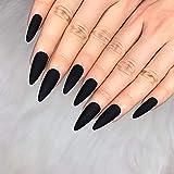 Morily 24pcs Fake Nails Matte Pure Color...