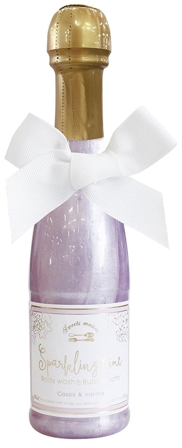 カウントアップ心配半径ノルコーポレーション 入浴剤 バブルバス スパークリングタイム カシス&バニラの香り 240ml OB-SMM-38-2