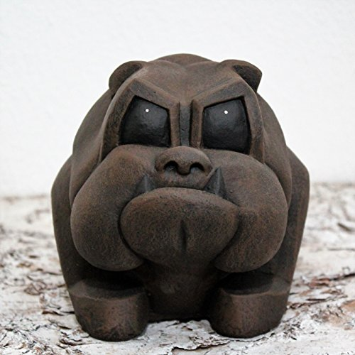 Bulldogge - Dunkelbraun Figur Deko-figur Hunde-figur Garten Statue