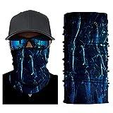 MMMN Máscara Unisex para el Cuello, Ciclismo al Aire Libre Camping EscaladaPañuelo de protección UV para el Sol, Seda, Protector solarBalaclava Impresión sin Costuras-C6_2 Piezas