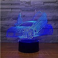3D LED錯視ランプ 多選択クールスポーツカーオートナイトライトノベルティ7色男の子デスクギフト用デスクテーブルの変更