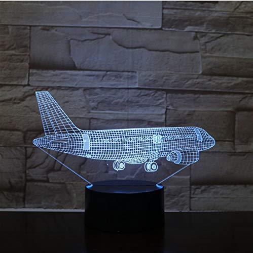 Flying Plane 3D Lampe 7 Couleur Led Changement Télécommande Commutateur Petite Veilleuse Lumières Colorées Atmosphère Lampe Chambre Lumière Pour Cadeau