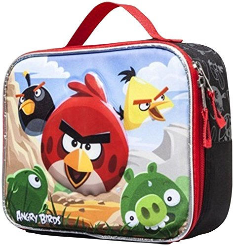 Angry Bird Insulated Lunch Bag - Black & Red Lunch Bag