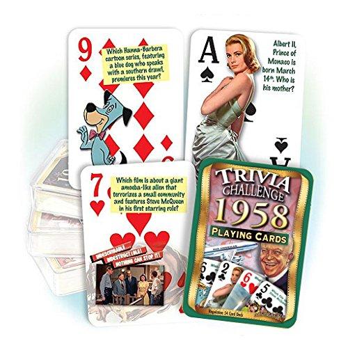 Flickback Media, Inc. 1958 Trivia Carte da gioco: 61° compleanno o 61° compleanno