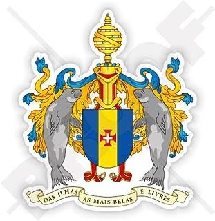 MADEIRA INSEL Wappen Portugal, Portugiesisch MADEIRA 90mm Au