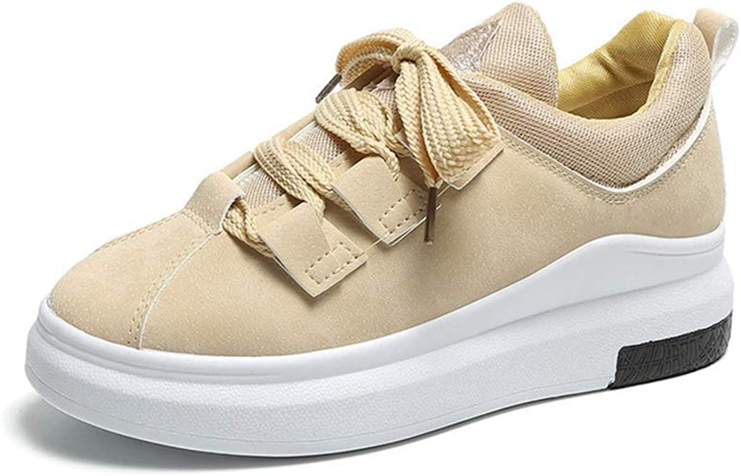 Ghapwe Women Platform Wedge Sneakers Ladies Casual Chunky Sneakers Basket Breathable shoes Girl Rubber Sole Girl Leg Length Elegant Leg Length Reasing Fashion Yellow 6 M US shoes