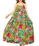 YESNO Women Casual Loose Bohemian Floral Print Empire Waist Spaghetti Strap Long Maxi Summer Beach Swing Dress XS-5X E75-CR10M