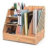 Booxihome Schreibtisch Organizer Holz, Büro Tisch Organisator