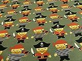 Generic Kinderstoff Kleine Piraten Baumwoll-Jersey 95%