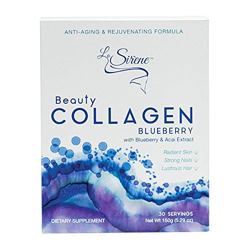 Blueberry Beauty Collagen (Marine) - with Acai Extract, CoQ10 and Pre-Biotic's - Premium Supplement Powder - Made in Japan