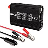 iRULU 300w 800W 1000w Microprocessor Power Inverter DC 12V to 110V AC Car Inverter with 4.2A Dual USB Car Adapter for Computer, Laptop, Projector and Game Console - Black