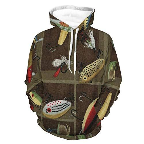 Hoodies für Männer und Frauen Fisch ToysHoodie Sportswear Casual Unisex Reise Pullover Shirt ohne Fleece Kapuzen-Sweatshirt Gr. Medium, Weißes Stil1
