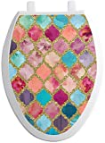YouCustomizeIt Glitter Moroccan Watercolor Toilet Seat Decal - Elongated...