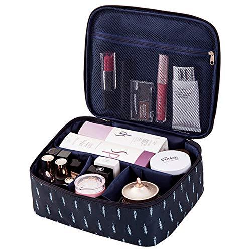 TOOGOO Sac De Maquillage Cosmétique De Mode De Voyage Pour Dame Sacs De Rangement Esthéticienne Sac De Maquillage Grande Capacité Pour Femmes (B Plume)
