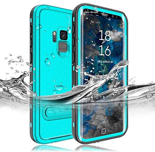 RedPepper Samsung Galaxy S9 Waterproof Case[5.8-Inch], IP68 Full Sealed Underwater Protective Cover, Shockproof, Snowproof, Dirtproof for Outdoor Sports (Grass Blue)