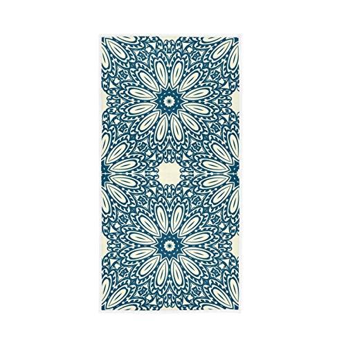 RURUTONG Paquete de 1 toalla de mano con patrón de estilo vintage, suave de secado rápido, toalla de baño para cocina, natación, spa, gimnasio, decoración de 76 x 38 cm 2010249